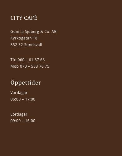 Charmigt mysigt cafe i Sundsvall